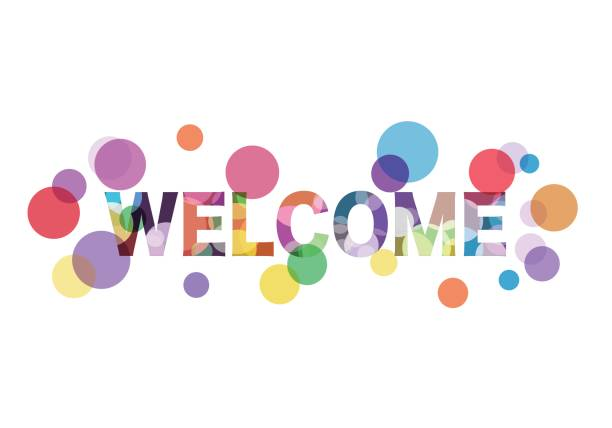 Colorful welcome word Vector EPS10 format. greeting stock illustrations
