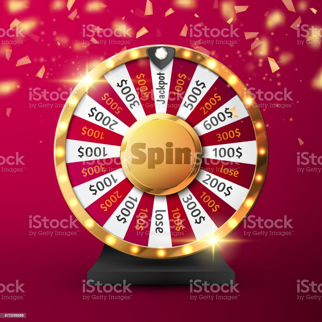 Colorful wheel of luck or fortune infographic. Vector vector art illustration
