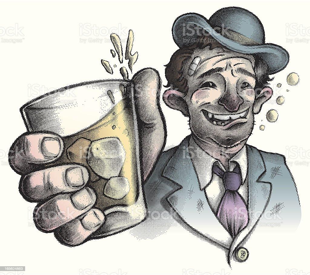 colorful Wino / Drunk vector art illustration