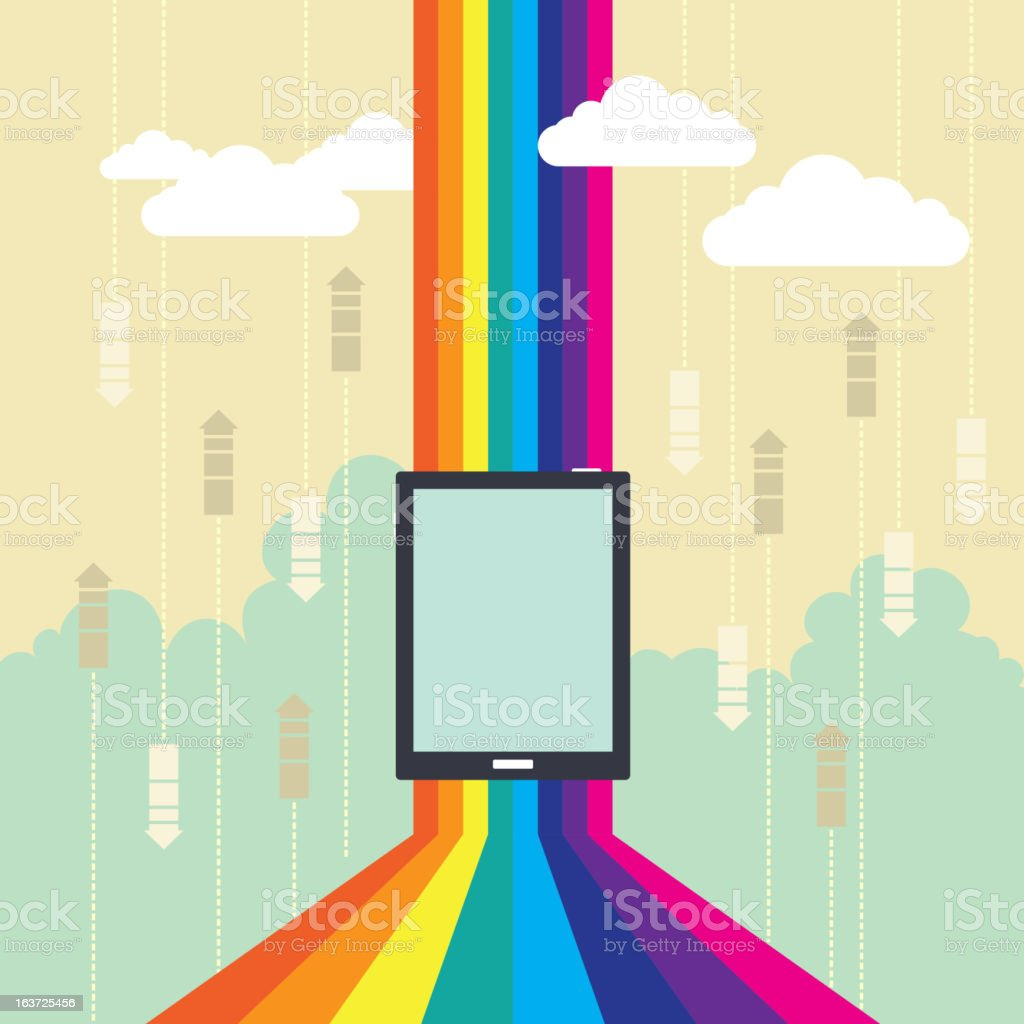 Colorful Wireless Technology royalty-free stock vector art
