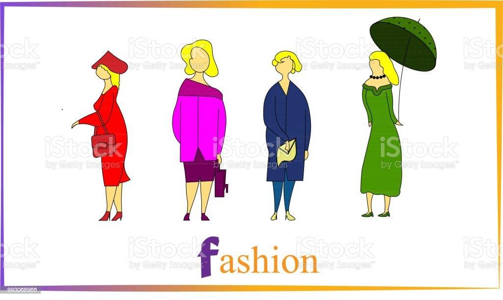 Groupe Quatuor Femmes libres Vecteurs Coloré De droits de et BedoCxr