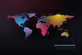Abstract world map background. File is layered and global colors used.