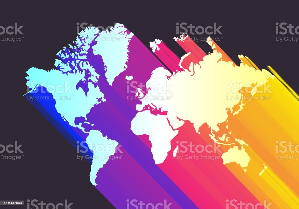 Colorful world map stock vector art more images of abstract colorful world map royalty free colorful world map stock vector art amp more images gumiabroncs Gallery