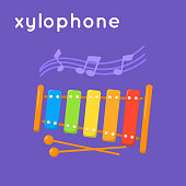 Colorful xylophone.