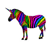 Colorful zebra.