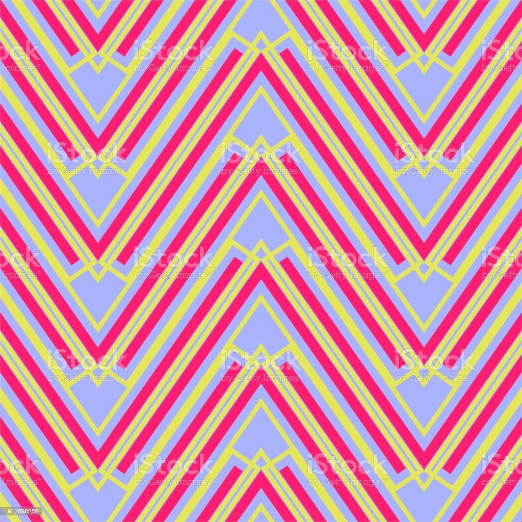 Bunte Zickzack Geometrische Muster Stock Vektor Art und mehr Bilder ...