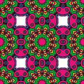 Colorfull Seamless floral pattern. Decorative background. for printing on fabric or paper. vector illustration