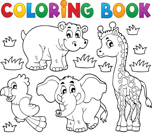 Best African Animals Coloring Pages Illustrations, Royalty ...