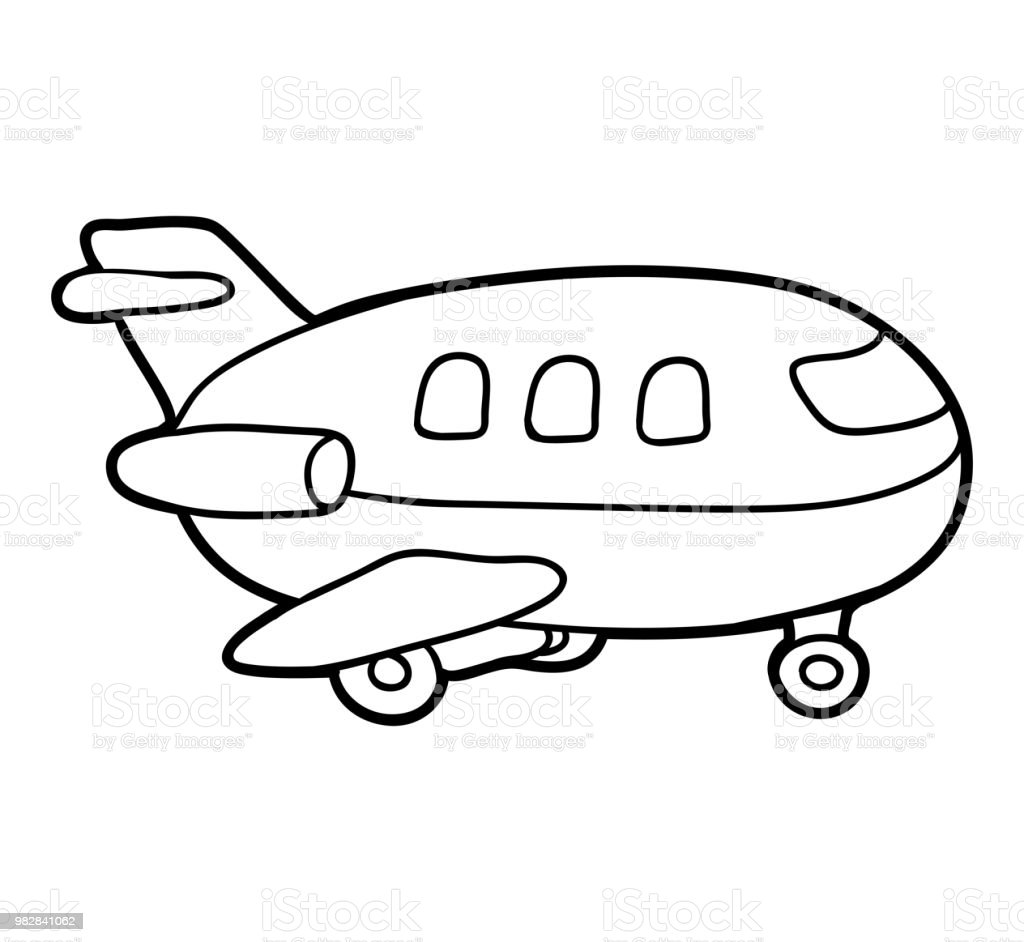 - Coloring Book Airplane Stock Illustration - Download Image Now - IStock