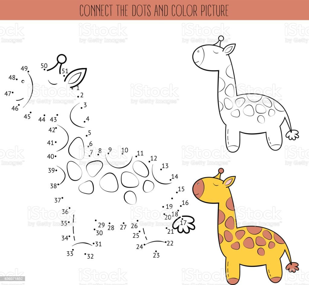 Malbuch Und Punkt Zu Punktlernspiel Für Kinder Verbinden Sie Die ...