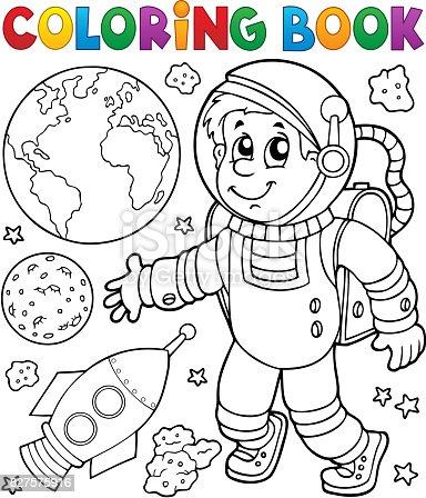 Ilustración de Tema De Astronauta De Libro Para Colorear 1 y más ...