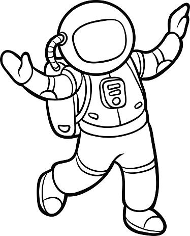 Malbuch Astronaut Stock Vektor Art und mehr Bilder von ...