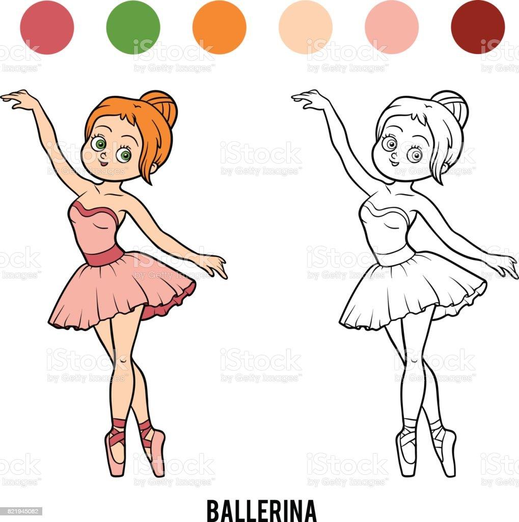 Coloriage Dessin Anime Ballerina.Livre De Coloriage Ballerine Vecteurs Libres De Droits Et Plus D