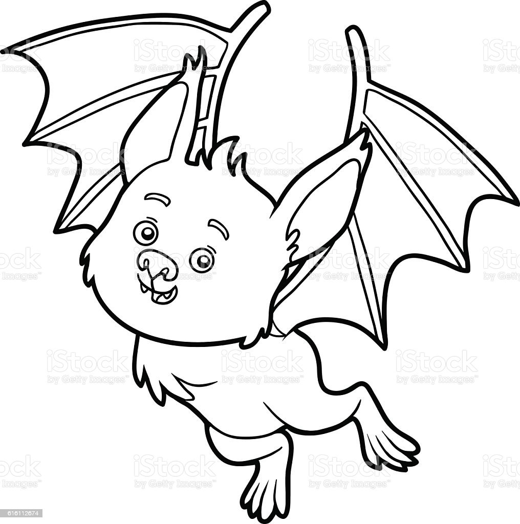 Coloring Book Bat Stock Illustration Download Image Now Istock