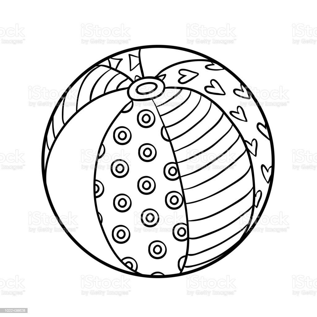 Image Coloriage Ballon.Livre De Coloriage Ballon De Plage Vecteurs Libres De Droits