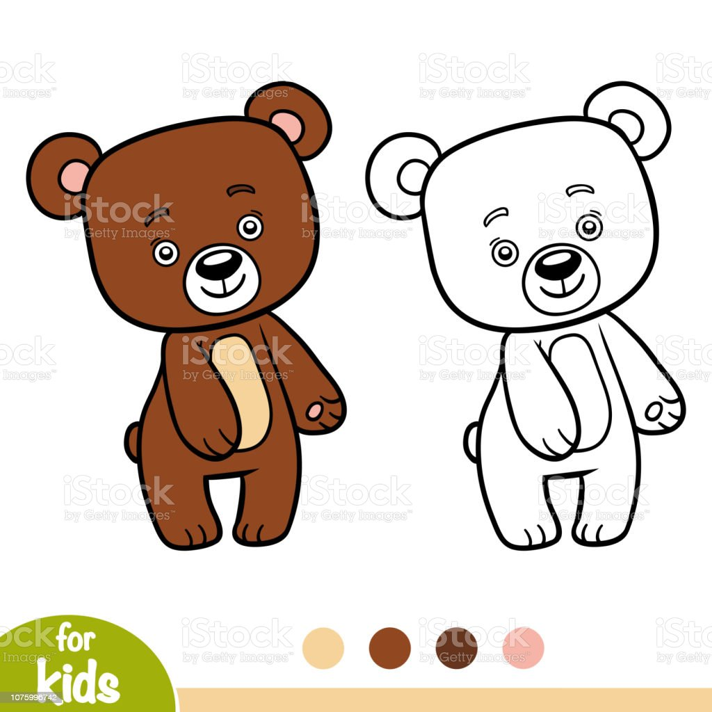 - 108 Teddy Bear. Coloring Book's Page Illustrations, Royalty-Free Vector  Graphics & Clip Art - IStock