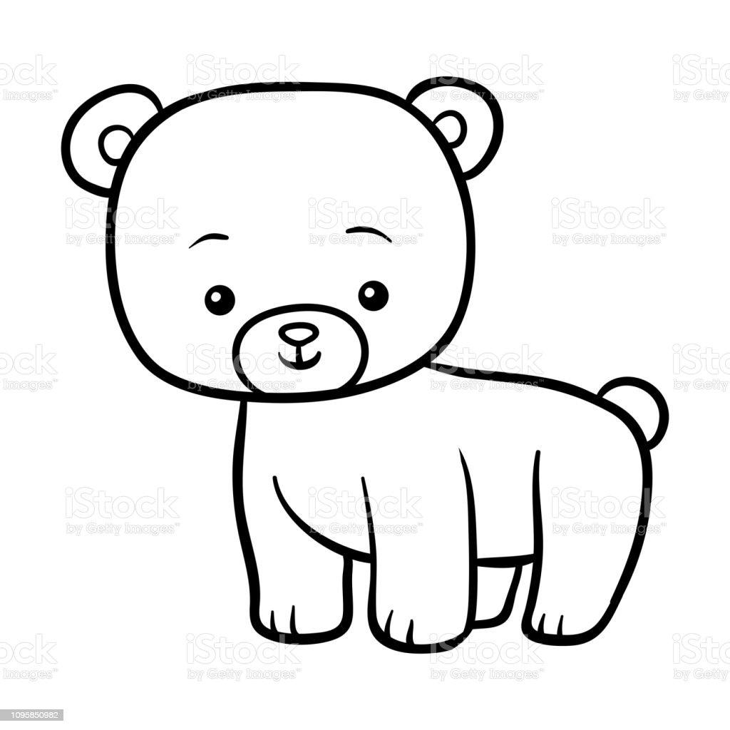 Vetores De Livro De Colorir Urso E Mais Imagens De Animal Istock