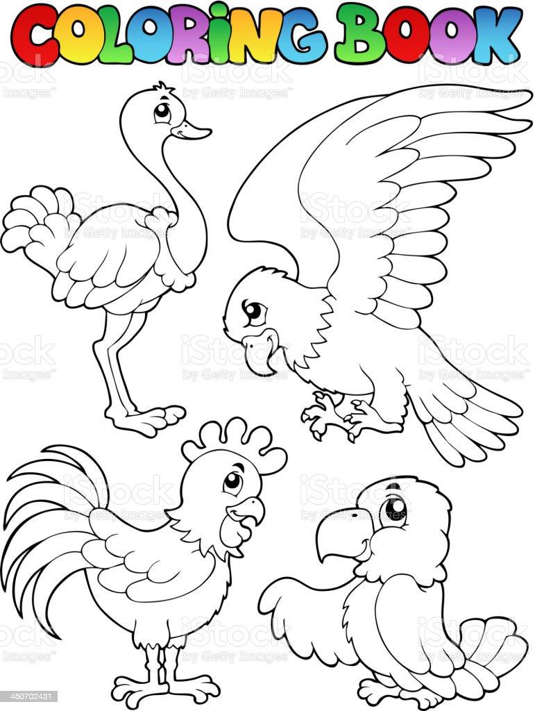 Ilustración de Libro Para Colorear Pájaro Imagen 1 y más banco de ...