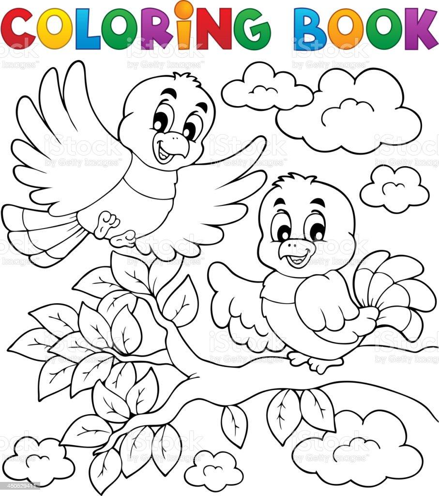 Ilustración de Libro Para Colorear Pájaro Tema 2 y más banco de ...