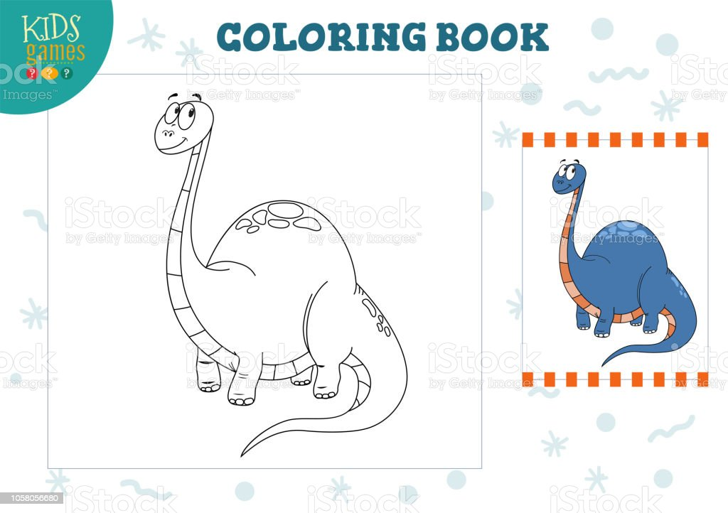 coloring book blank page vector illustration preschool kids activity