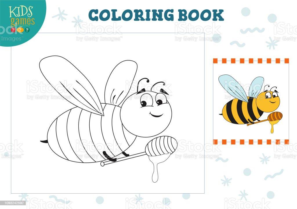 Boyama Kitabi Bos Sayfa Vektor Cizim Okul Oncesi Cocuklar