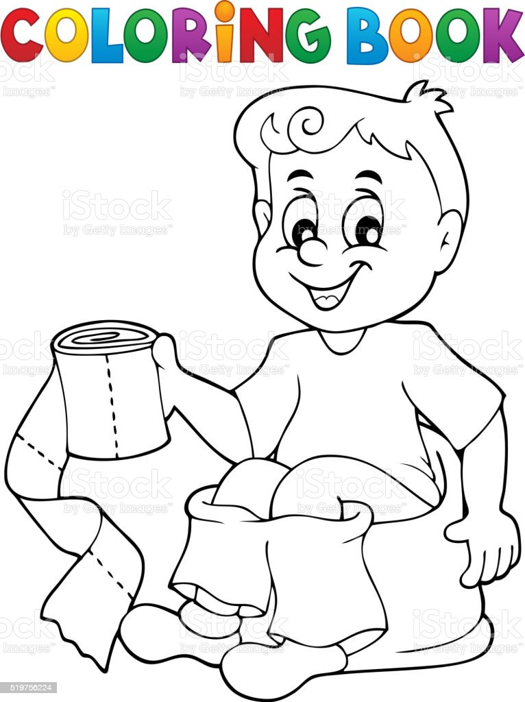 Ilustración de Libro Para Colorear Chico El Orinal De Niño y más ...