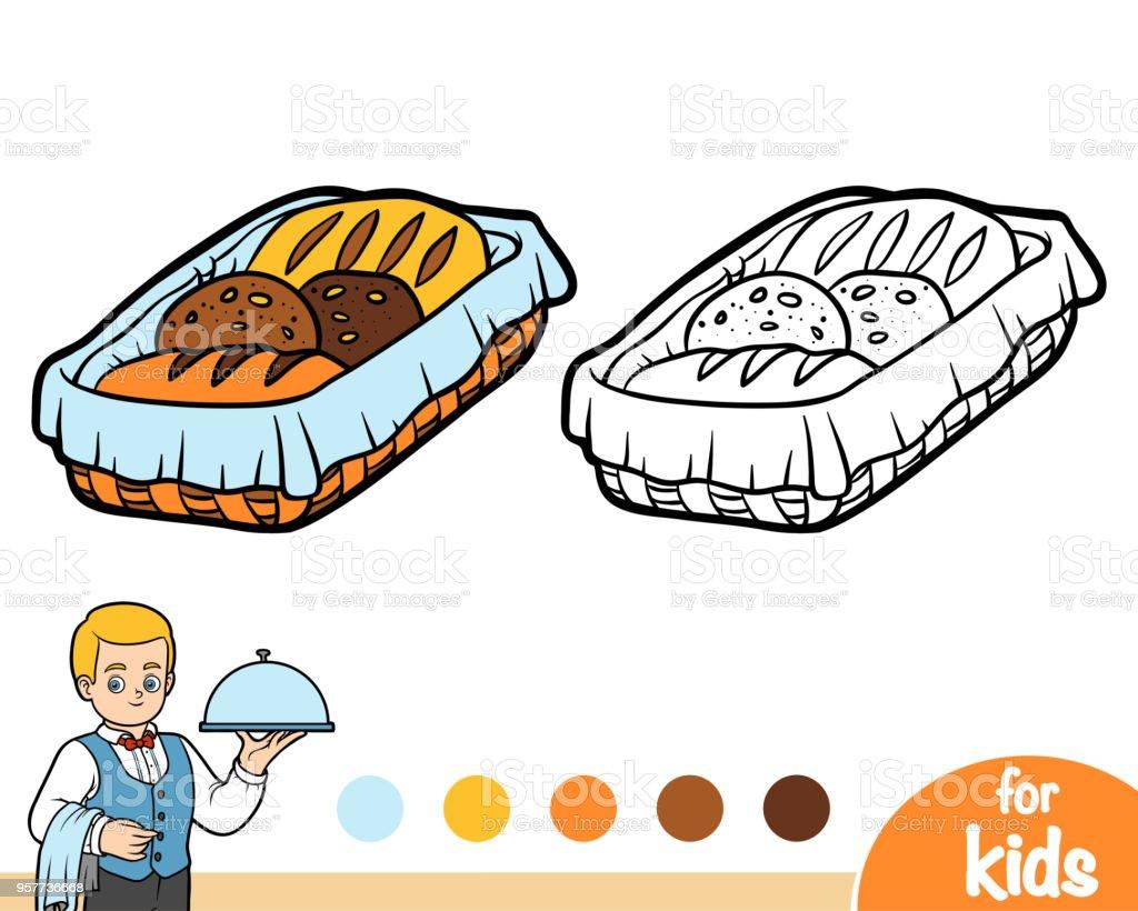 Boyama Kitabi Ekmek Sepeti Stok Vektor Sanati Anaokulu Nin Daha