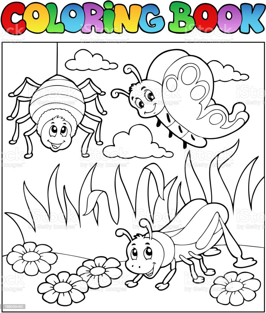 Coloring book bugs theme image 1 royalty-free stock vector art