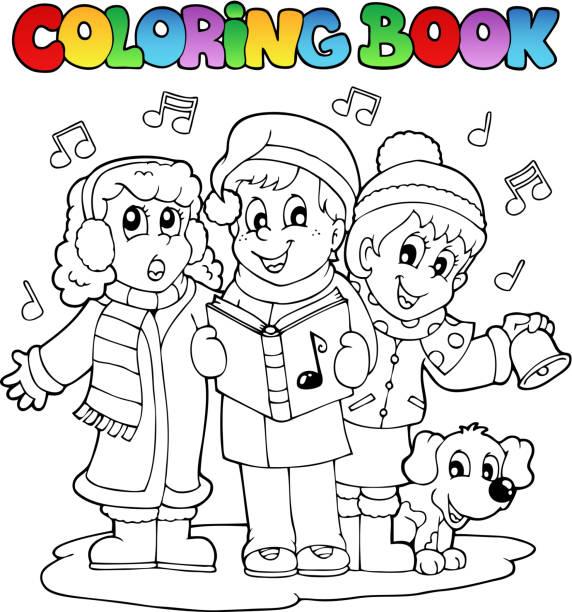 Ilustración de Libro Para Colorear Carol De Música Temática 1 y más ...