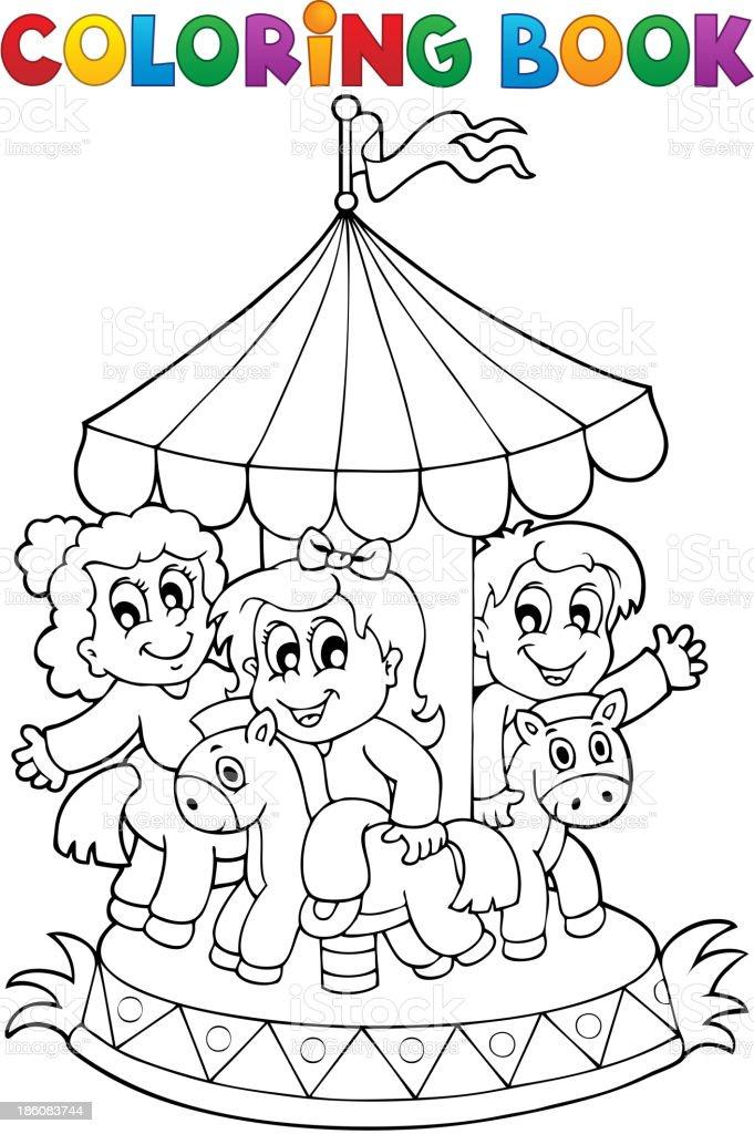Livre De Coloriage Thème 1 Manège Vecteurs Libres De Droits Et Plus D Images Vectorielles De Activité