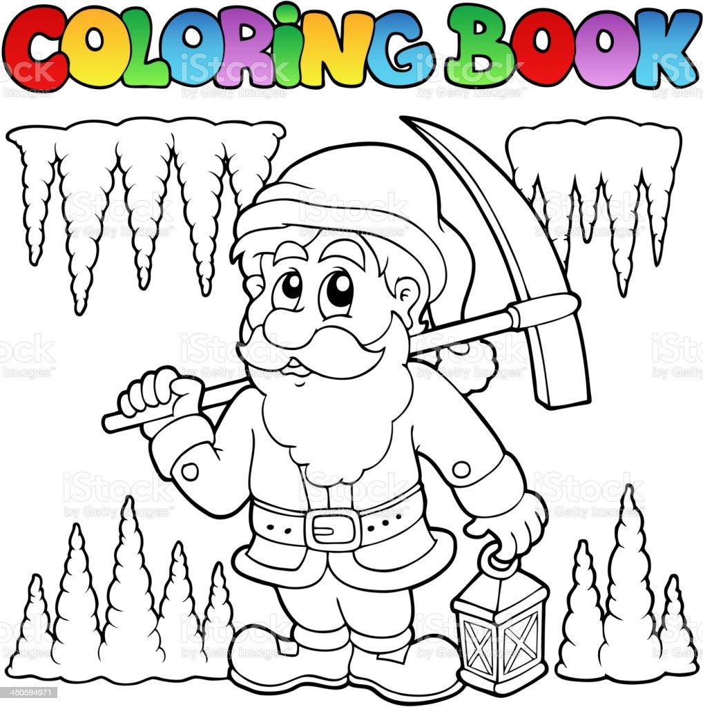 Livre De Coloriage Dessin Animé Mineur De Nain – Cliparts vectoriels ...