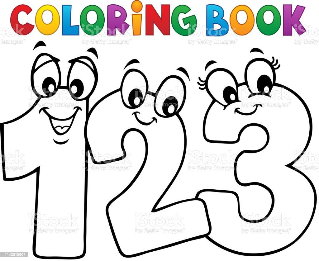 Coloriage Livre Dessin Anime Chiffres Image 1 Vecteurs Libres De Droits Et Plus D Images Vectorielles De Art Istock