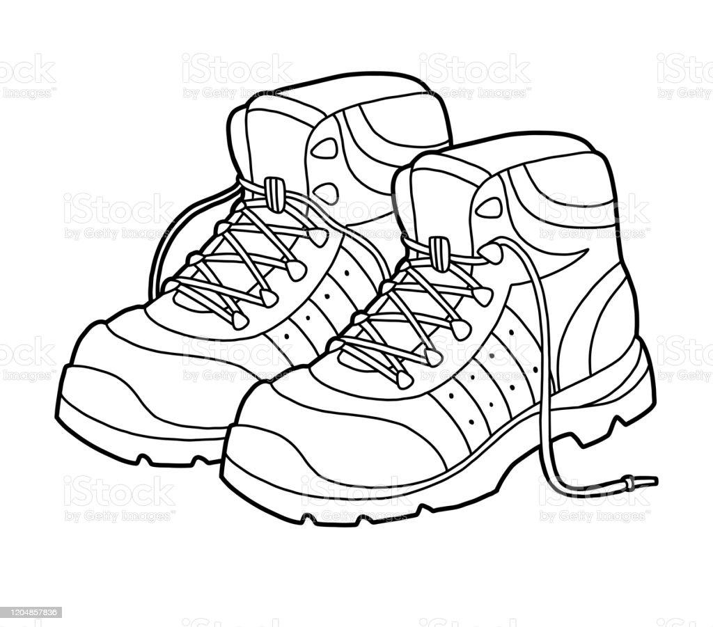 Ilustracion De Libro Para Colorear Coleccion De Zapatos De Dibujos