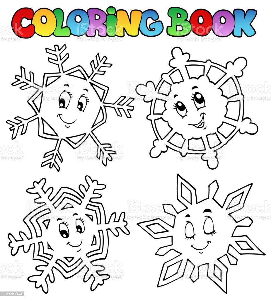 ilustração de dos desenhos animados para colorir livro neve 1 e mais