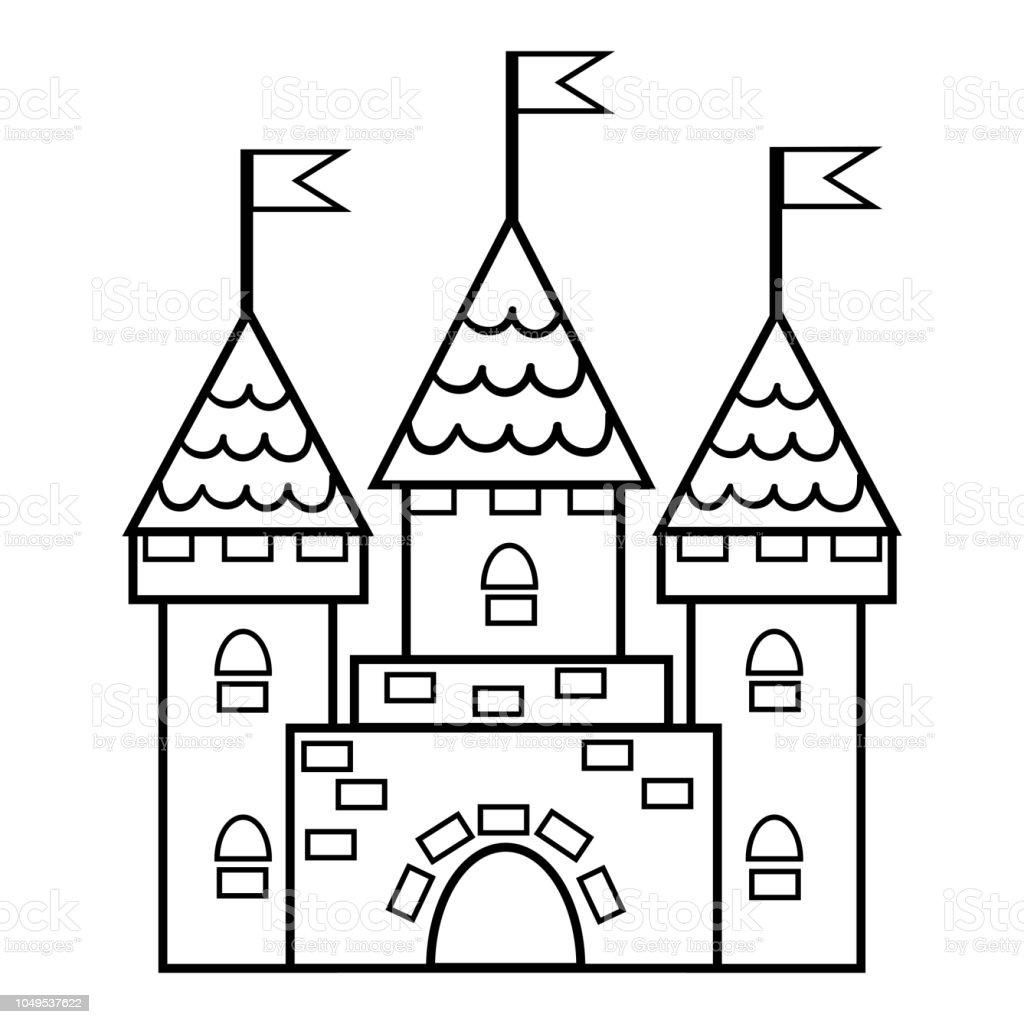 Livre De Coloriage Chateau Vecteurs Libres De Droits Et Plus D Images Vectorielles De Architecture Istock