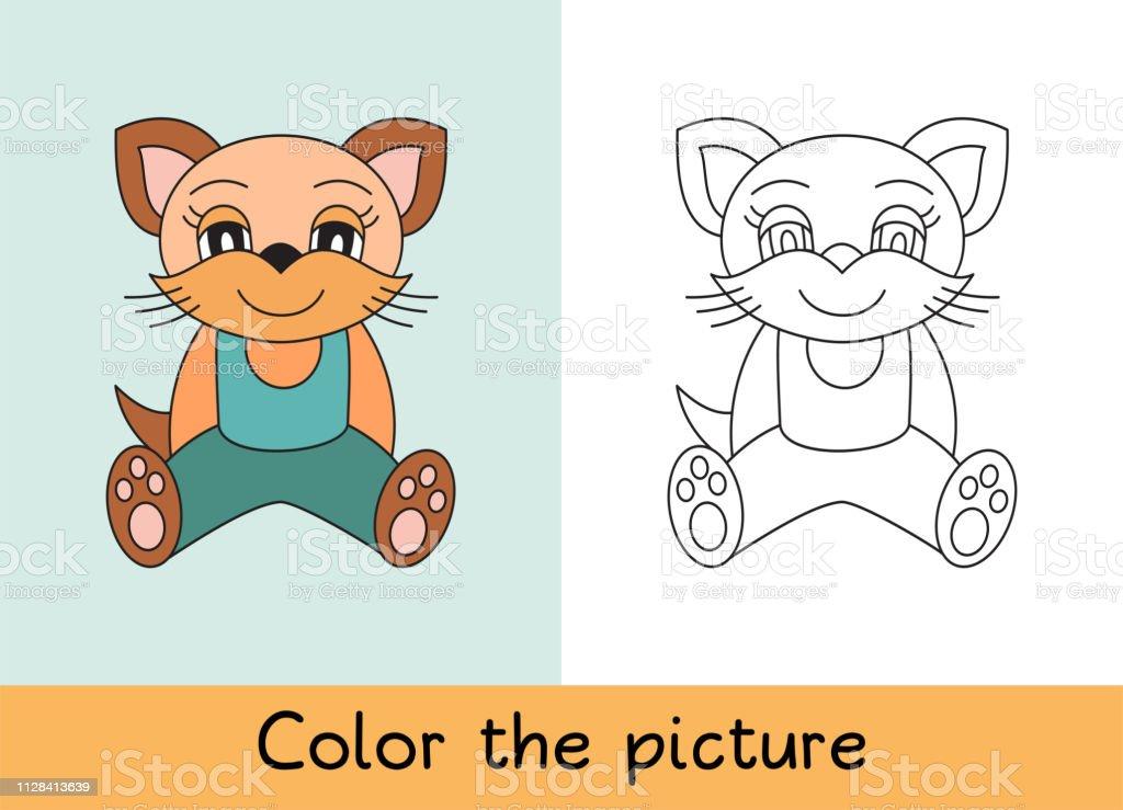 Coloring Book Cat Pet Cartoon Animall Kids Game Color ...