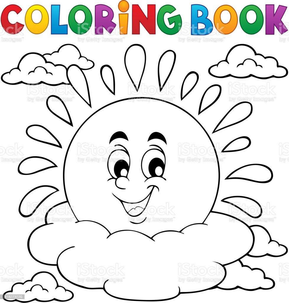 Ilustración de Libro Para Colorear Alegre Sol Tema 1 y más banco de ...