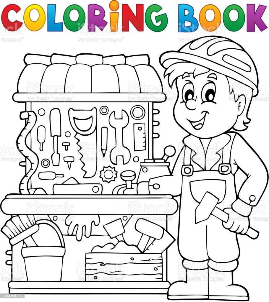 Ilustración De Libro Para Colorear Niño Jugando Tema 2 Y Más