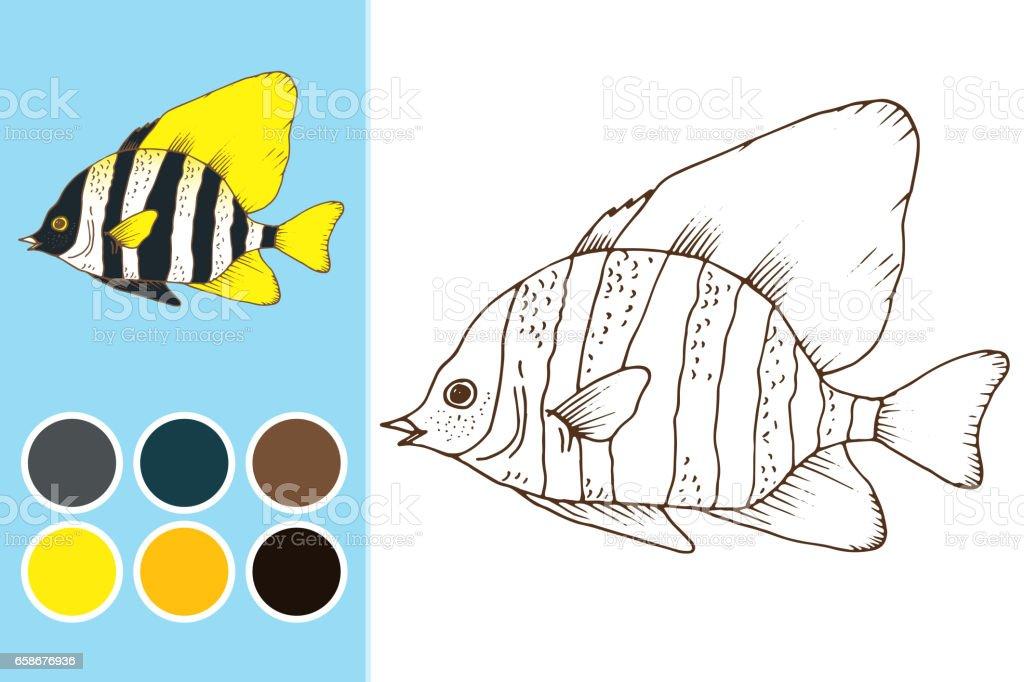 Ilustración de Libro De Colorear Juego De Niños Diseño y más banco ...