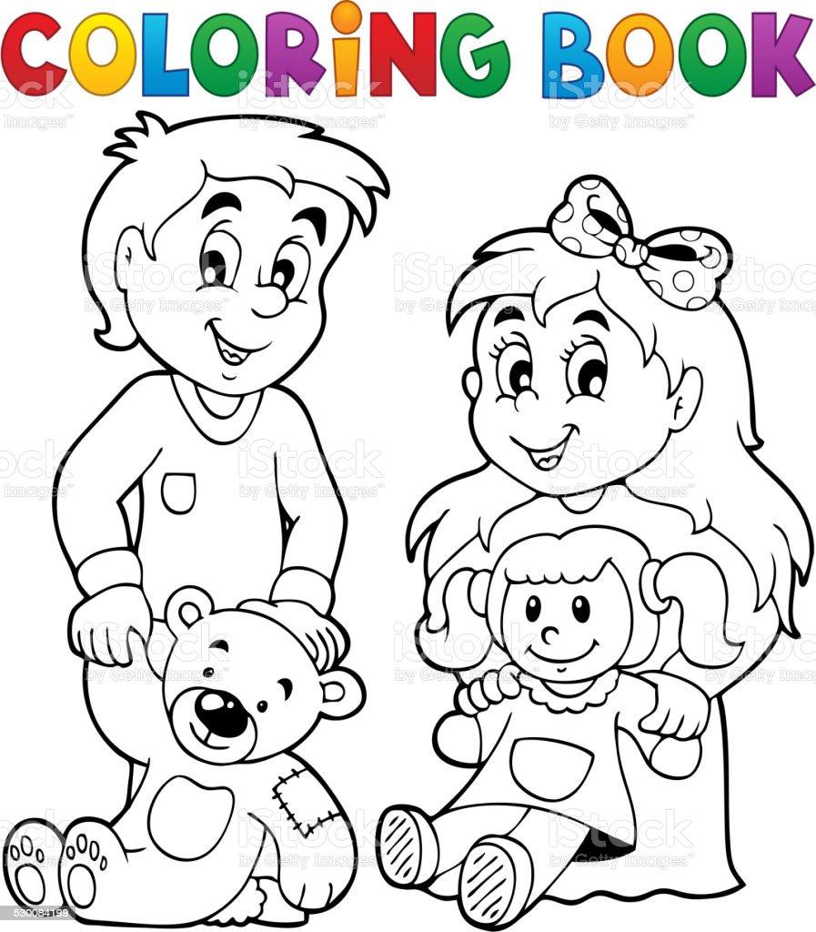 Vetores De Livro De Colorir Com Brinquedos Para Criancas 1 E Mais