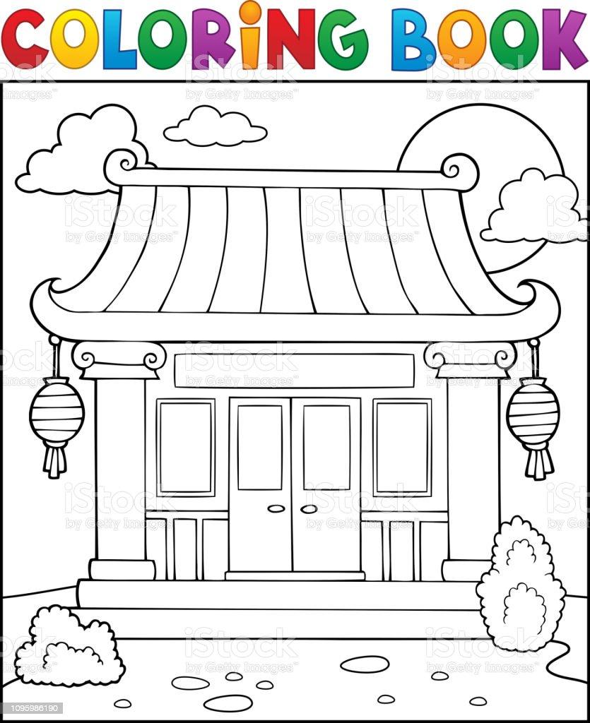 Malvorlagen Chinesische Tempel Buchthema 17 Stock Vektor Art und mehr Bilder  von Architektur