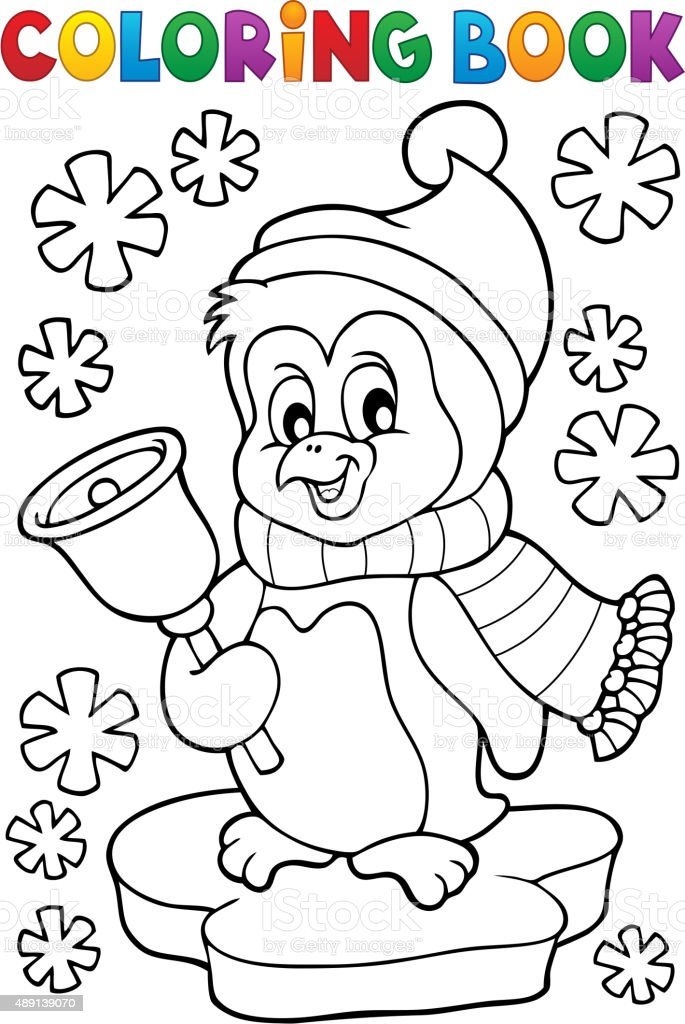 Ilustración de Pingüino De Navidad Para Colorear Libro Tema 1 y más ...