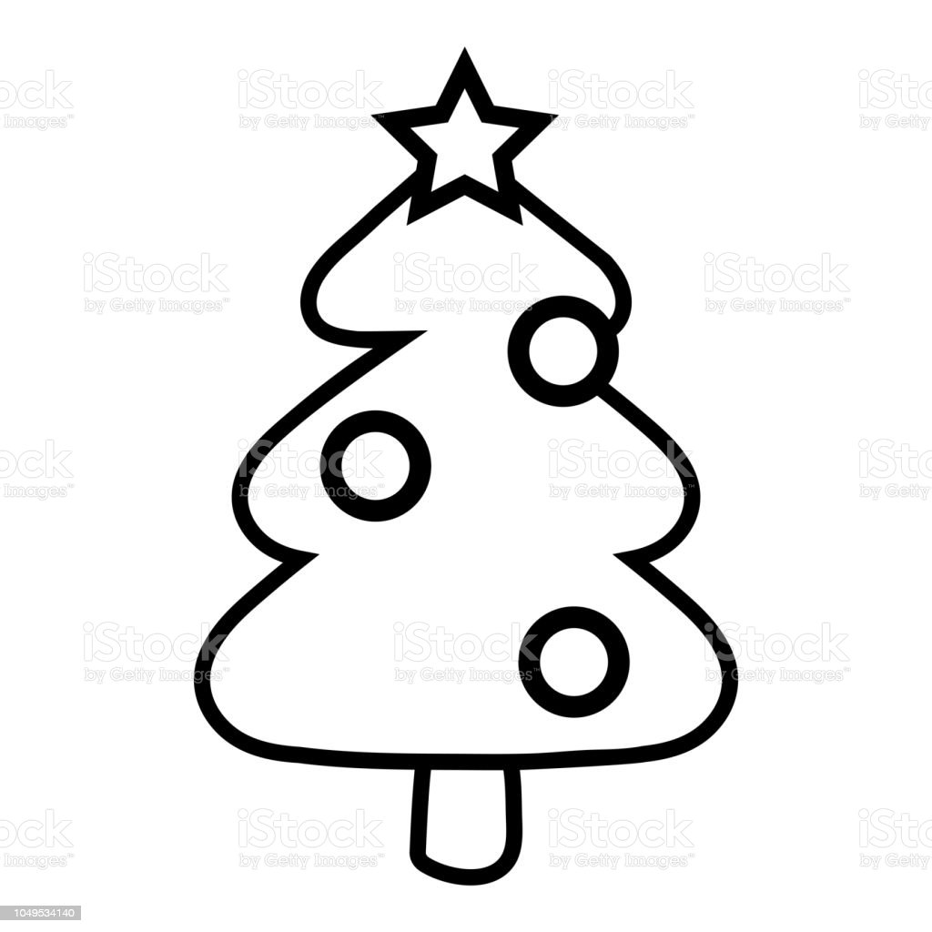 - Coloring Book Christmas Tree Stock Illustration - Download Image