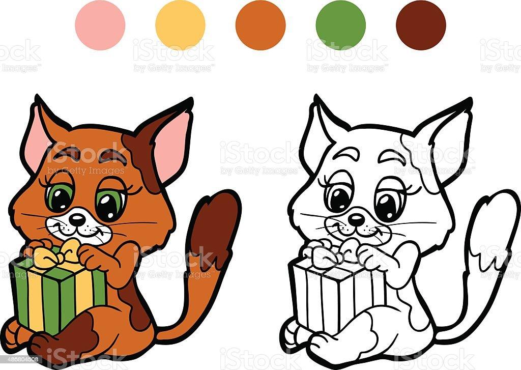 Ilustración de Libro Para Colorear Navidad Invierno Cat Juegos Para ...