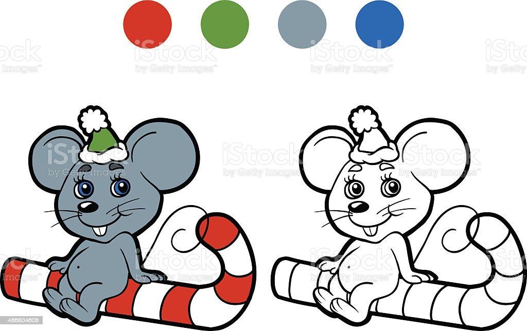 Ilustración de Libro Para Colorear Invierno Navidad Ratón Juegos ...