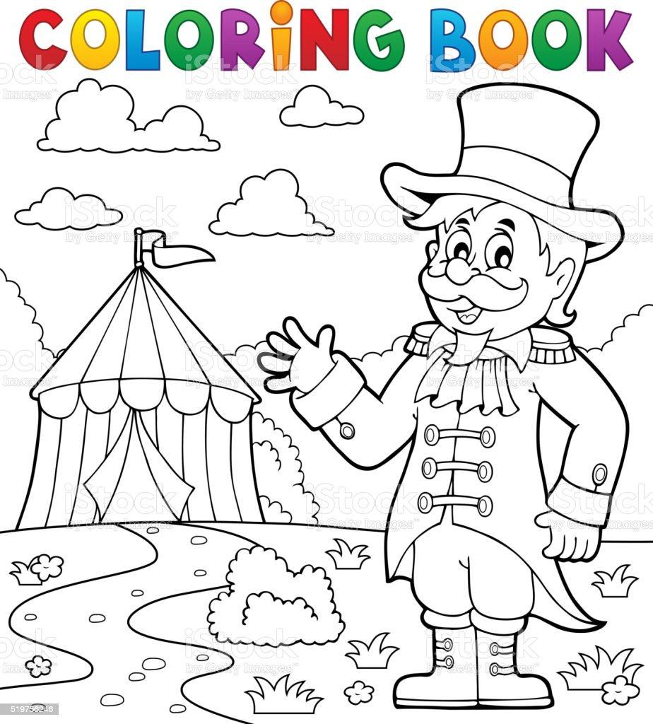 Coloriage Adulte Cirque.Livre De Coloriage Du Cirque Monsieur Loyal Theme 2 Vecteurs Libres