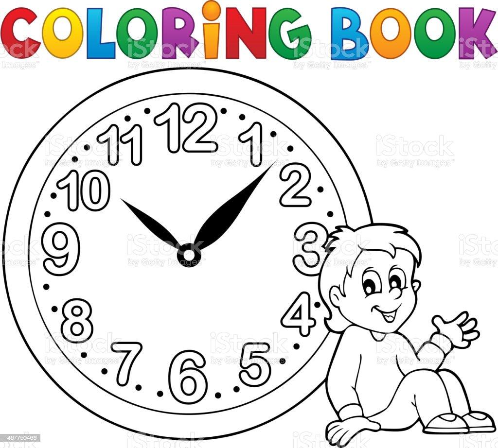 Libro Para Colorear Reloj Tema 1 - Arte vectorial de stock y más ...