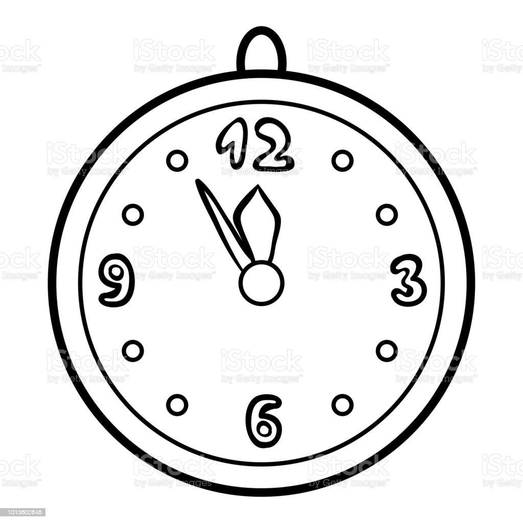 Malbuch Uhr Stock Vektor Art Und Mehr Bilder Von Analog Istock