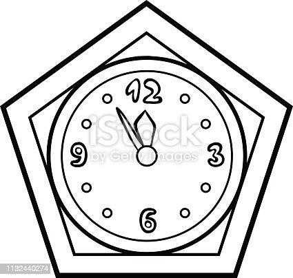 ᐈ Imagen De Libro De Colorear Reloj De Cuco