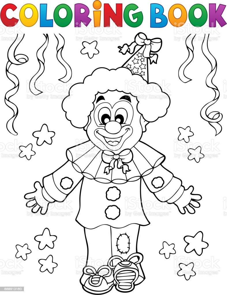 Coloriage Clown Adulte.Livre De Coloriage Clown Thematiques 2 Vecteurs Libres De